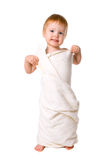 Beauty baby in towel after shower Royalty Free Stock Images