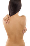 Beauty back side of woman Royalty Free Stock Images