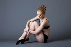 Beauty ballet girl after training Royalty Free Stock Image