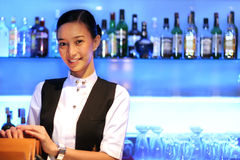 Beauty bar staff at work Stock Photo