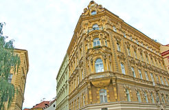 Beauty of Baroque architecture in Prague Stock Photo
