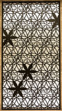 The beauty of bars wrought iron flower patterns. Stock Photography