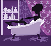 Beauty bath Stock Image
