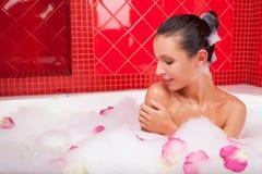 Beauty in bath. Royalty Free Stock Photos