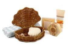 Beauty bath set stock images