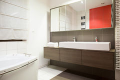 Beauty bathroom in modern style Stock Photos