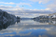 Beauty Bay on Coeur d'Alene Lake, Idaho Royalty Free Stock Images