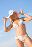 Beauty on beach Royalty Free Stock Photo