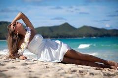 Beauty at the beach Royalty Free Stock Photos