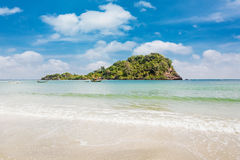 Beauty beach and Island on summer Stock Image