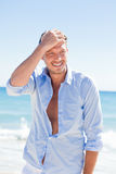Beauty beach man portrait Royalty Free Stock Photo