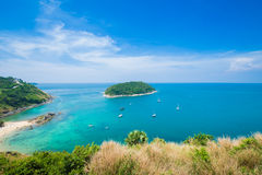 Beauty beach sand viewpoint summer seasons phuket island thailand Stock Photo