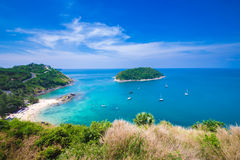 Beauty beach sand viewpoint summer seasons phuket island thailand Royalty Free Stock Images