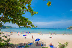 Beauty beach sand viewpoint summer seasons phuket island thailand Royalty Free Stock Photo