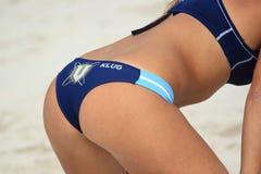 Beauty of beach volleyball - Georgina Klug Stock Images