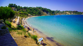 A beauty beach in Zakynthos, Greece. Royalty Free Stock Photography