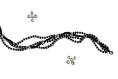 Beauty beads. Black and white beauty beads Photography Stock Images