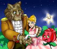 Beauty and the Beast Stock Images