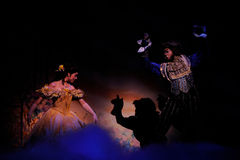 The Beauty and the Beast. BUENOS AIRES, ARGENTINA - MARCH 26: Opening of Disney Musical The Beauty and the Beast in Opera Theater. March 26, 2010 in Buenos Aires Stock Photo