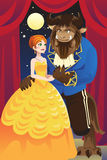 Beauty and the beast Stock Photos