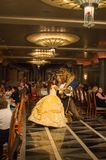 Beauty and the beast dancing Royalty Free Stock Images