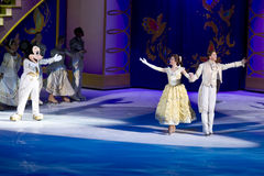 Beauty and the Beast Disney on Ice. Beauty and the Beast skate out during the finale of Disney on Ice Dare to Dream stock photo