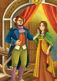 Beauty and the beast - Prince or princess - castles - knights and fairies - illustration for the children Stock Images