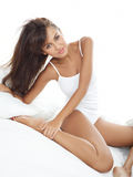 Beauty in Bed Stock Image