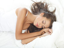 Beauty in Bed Stock Photos