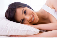 Beauty in bed. Stock Image