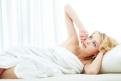 Beauty in the bedroom Royalty Free Stock Photo