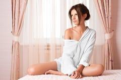 Beauty in bedroom Royalty Free Stock Photo