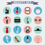 Beauty big vector icon set Stock Photo