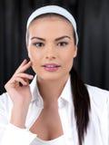 Beauty on black background Royalty Free Stock Image