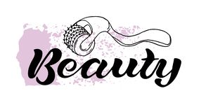 Beauty black text royalty free illustration