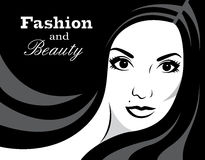 Beauty in black and white - Illustration Stock Photography