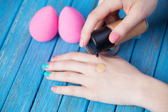 Beauty blender. Stock Photo