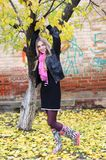 Beauty blond girl. Autumn Royalty Free Stock Image