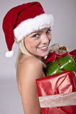 Beauty Blond Santa Stock Photography