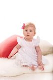 Beauty blonde baby girl Stock Photo
