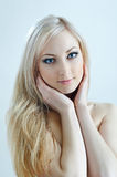 Beauty blonde in cold colours Royalty Free Stock Image