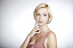 Beauty blonde girl Stock Photography