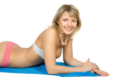 Beauty blonde relaxing Stock Photography
