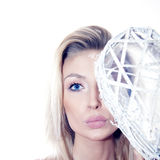 Beauty blonde woman portrait Royalty Free Stock Images