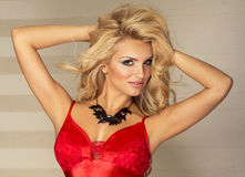 Beauty blonde woman posing Stock Images