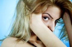 Beauty On Blue 12 Stock Photo
