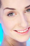 Beauty on Blue Stock Images
