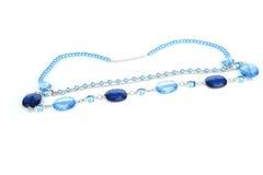 Beauty blue beads Royalty Free Stock Photos