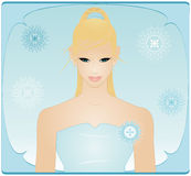 Beauty in Blue Dress Royalty Free Stock Image