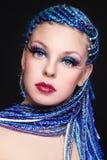 Beauty with blue hair Stock Photos
